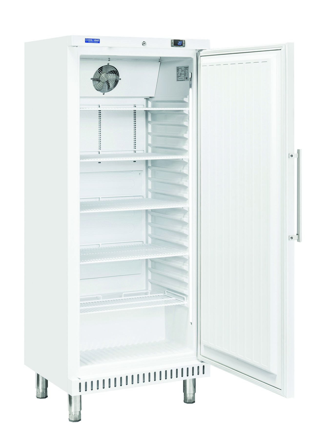 400 literes cukrászati hűtő, ventilációs hűtéssel, teli ajtóval, fehér