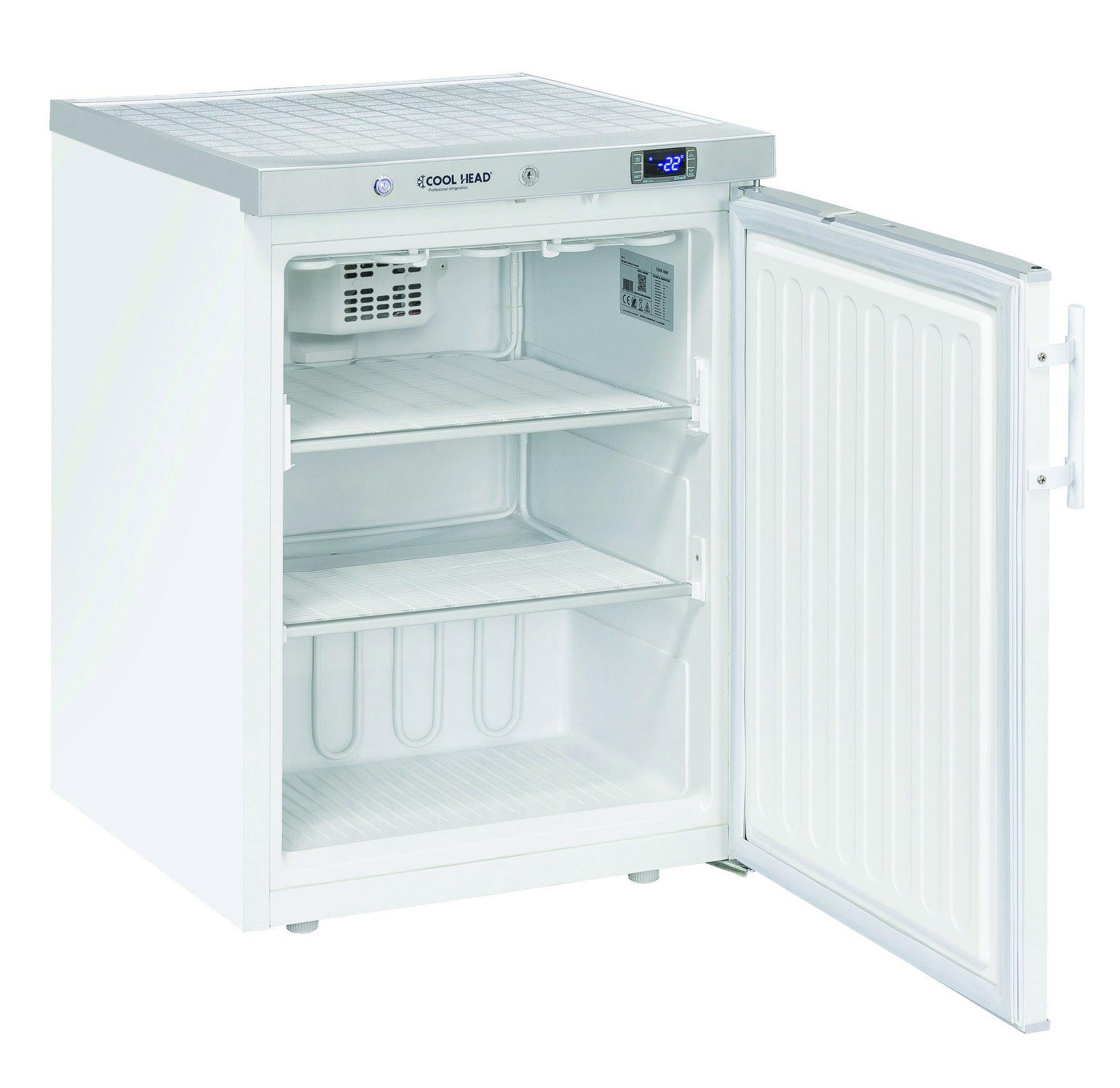 200 literes mélyhűtő, statikus hűtéssel, teli ajtóval, fehér