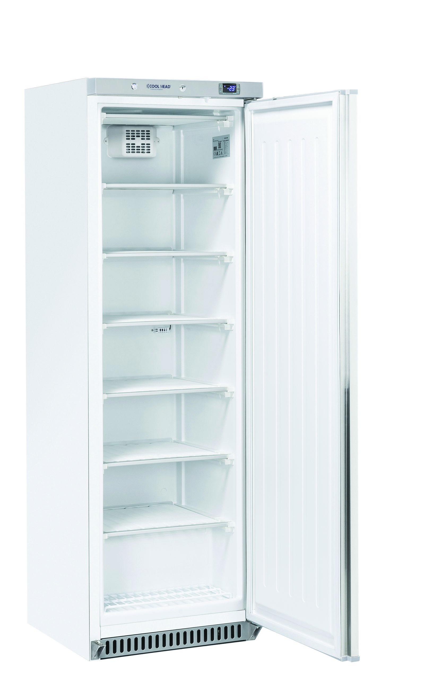 400 literes mélyhűtő, statikus hűtéssel, teli ajtóval, fehér