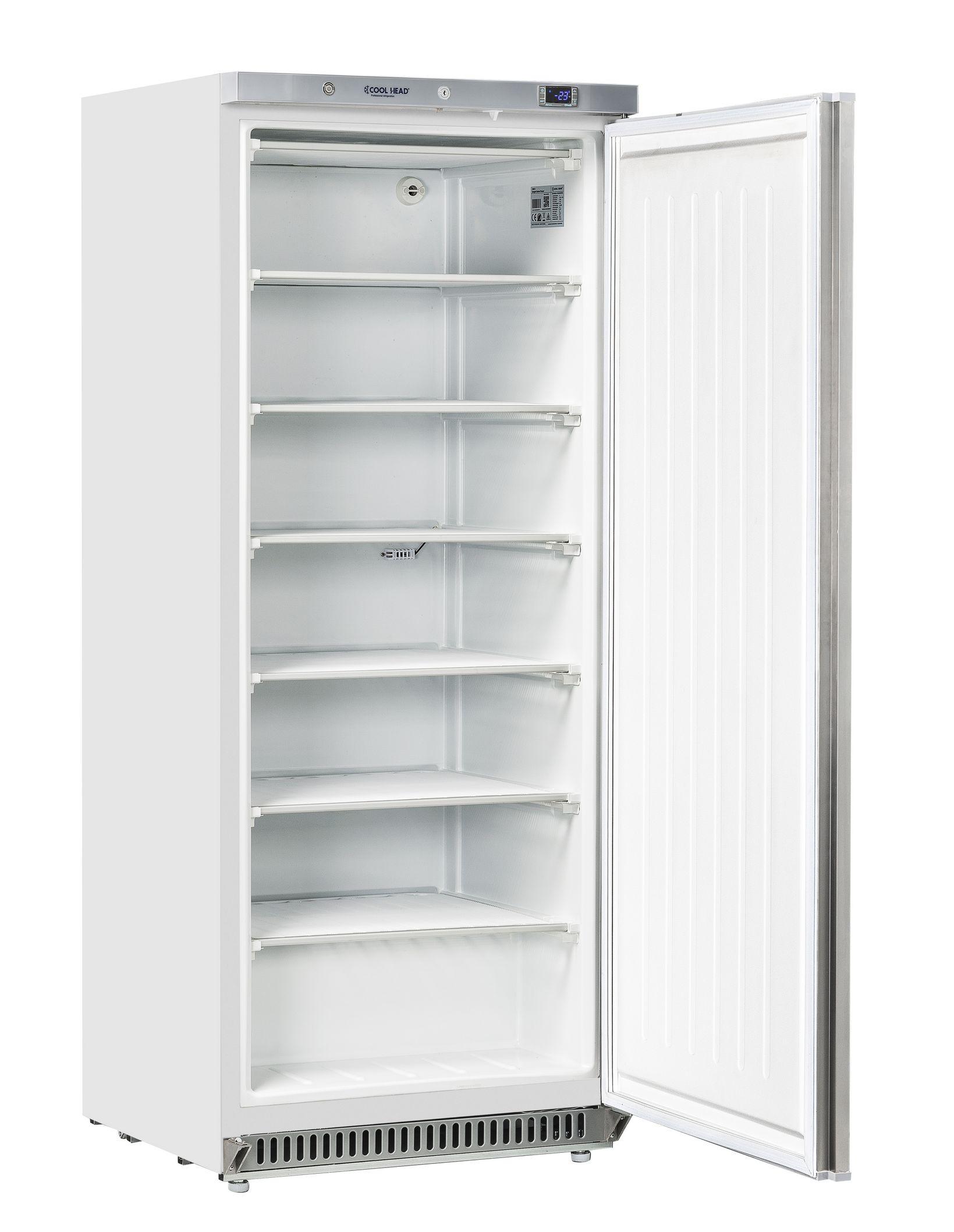600 literes mélyhűtő, statikus hűtéssel, teli ajtóval, fehér, -18/-23°C