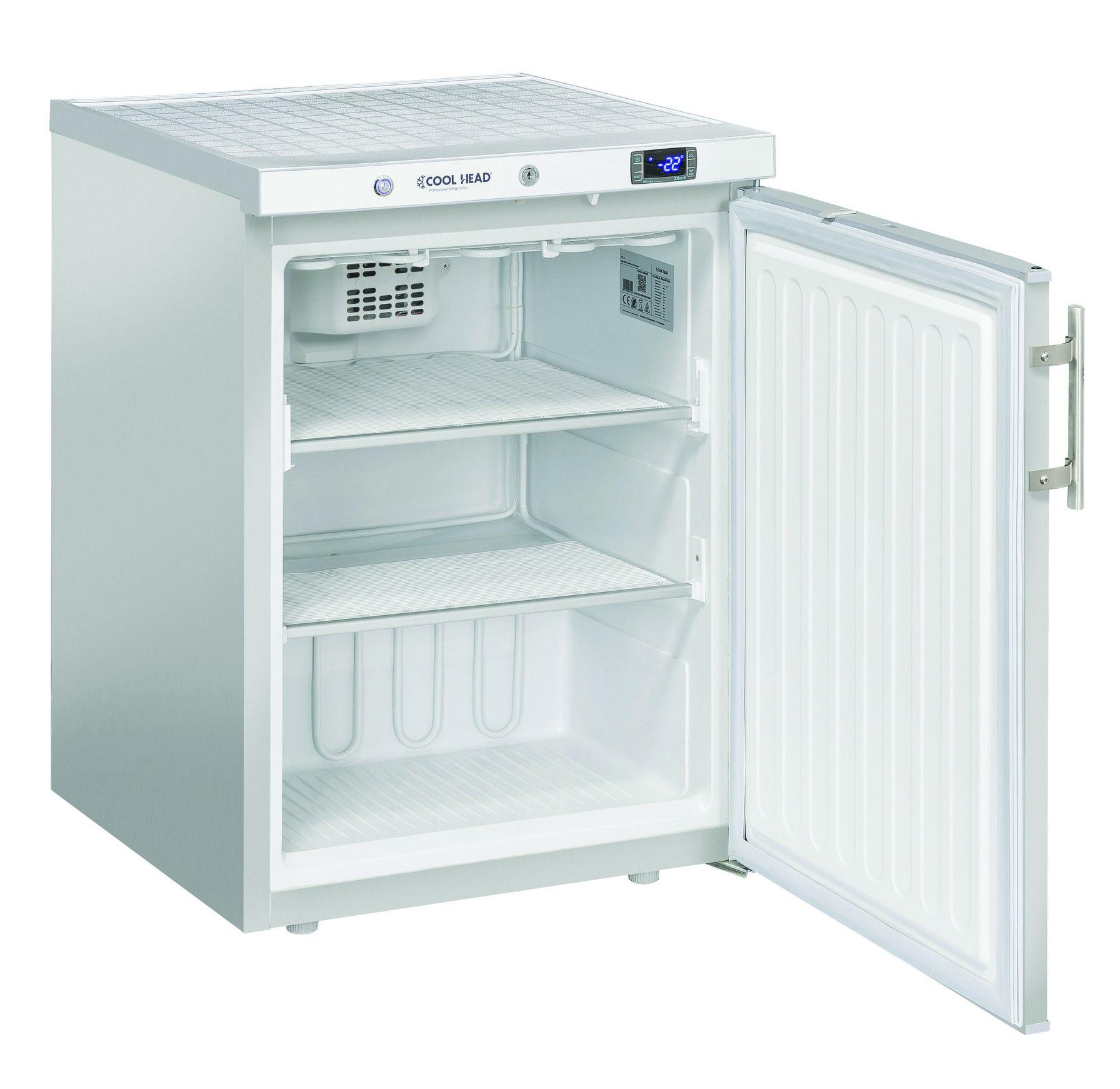 200 literes mélyhűtő, statikus hűtéssel, teli ajtóval, rozsdamentes