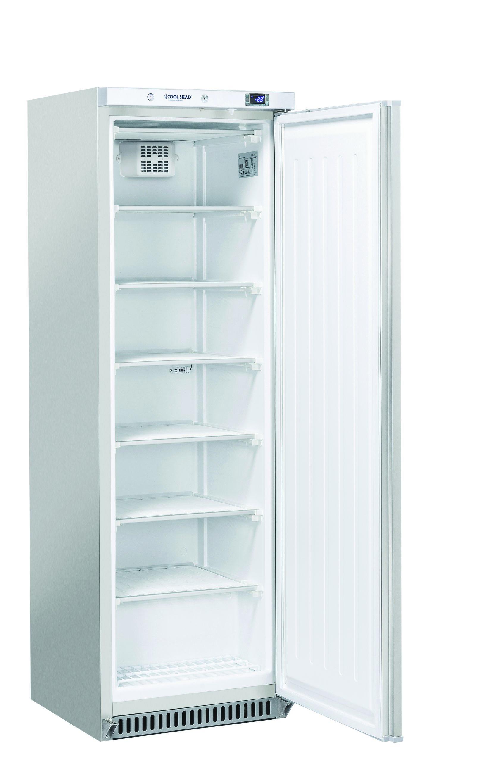 400 literes mélyhűtő, statikus hűtéssel, teli ajtóval, rozsdamentes