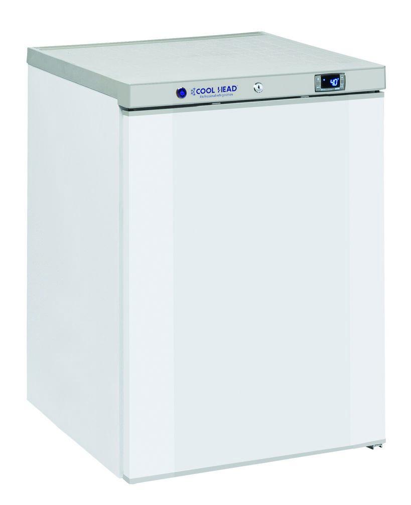 200 literes hűtő, ventilációs hűtéssel, teli ajtóval, fehér