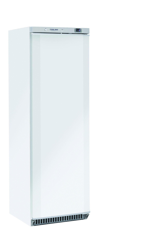 400 literes hűtő, ventilációs hűtéssel, teli ajtóval, fehér