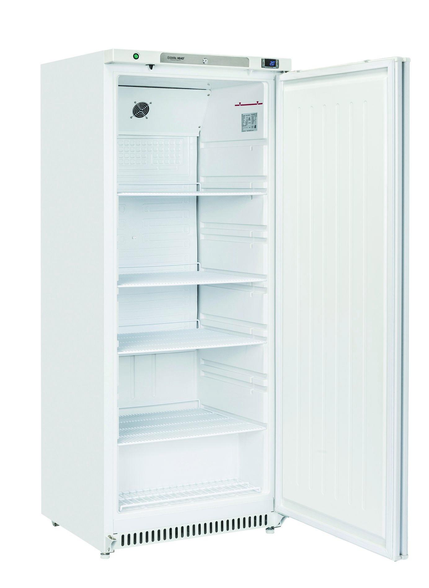 600 literes hűtő, ventilációs hűtéssel, teli ajtóval, fehér, 0/+8°C