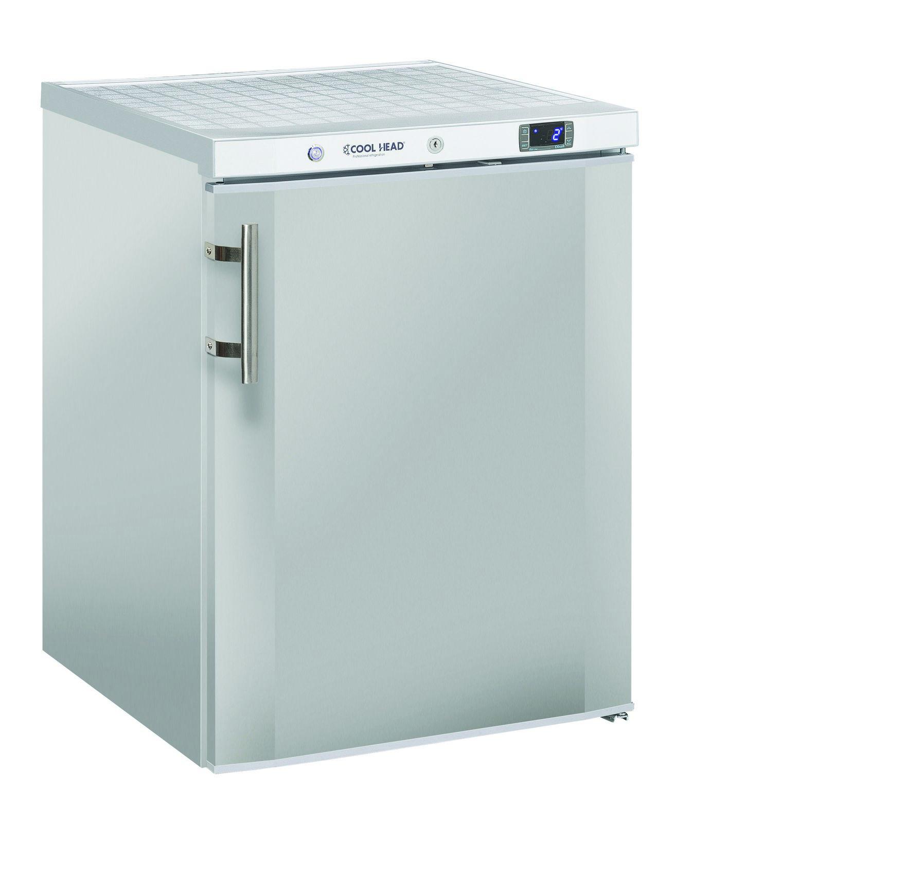 200 literes hűtő, ventilációs hűtéssel, teli ajtóval, rozsdamentes