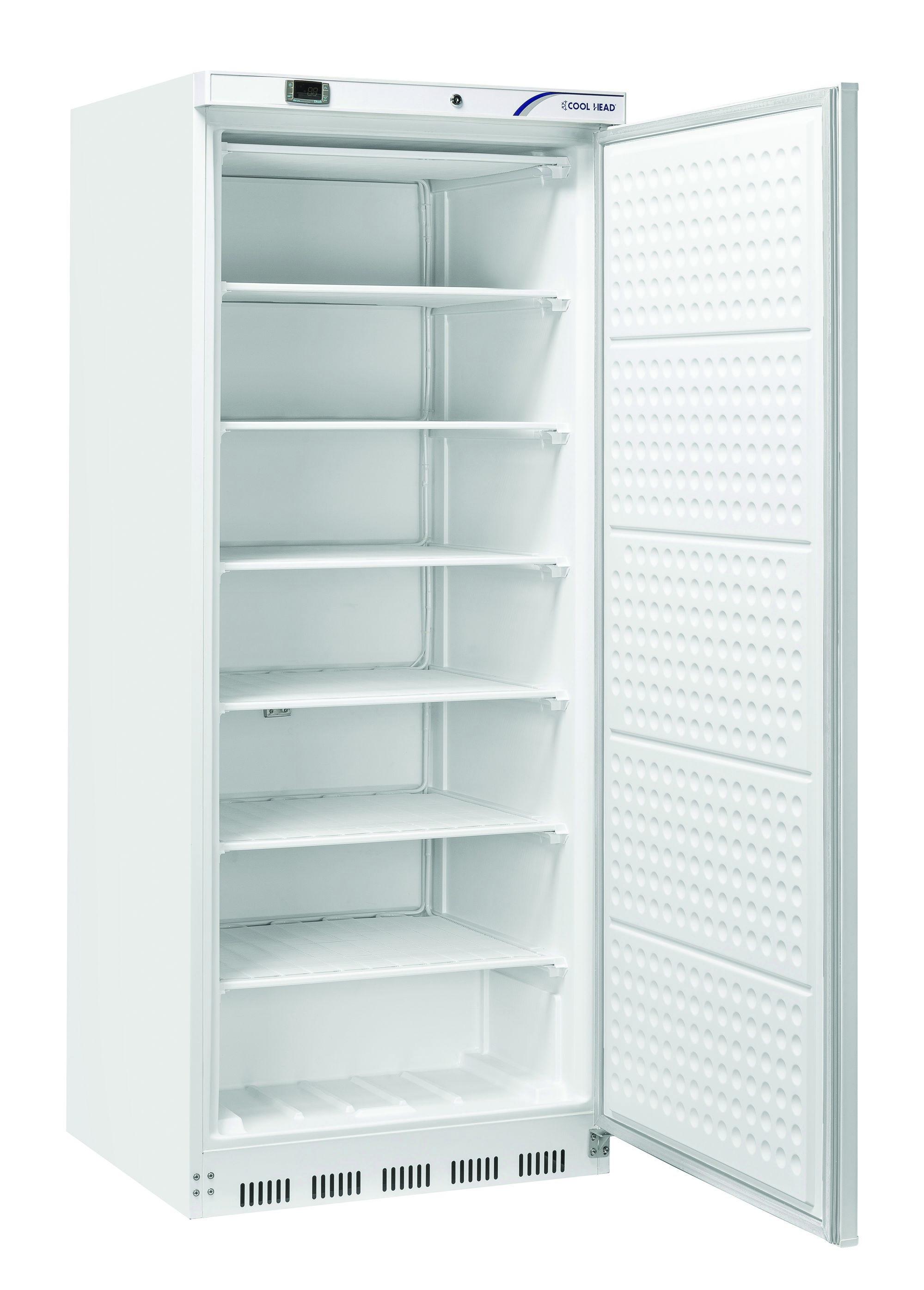 600 literes mélyhűtő, statikus hűtéssel, teli ajtóval, fehér, -18/-22°C