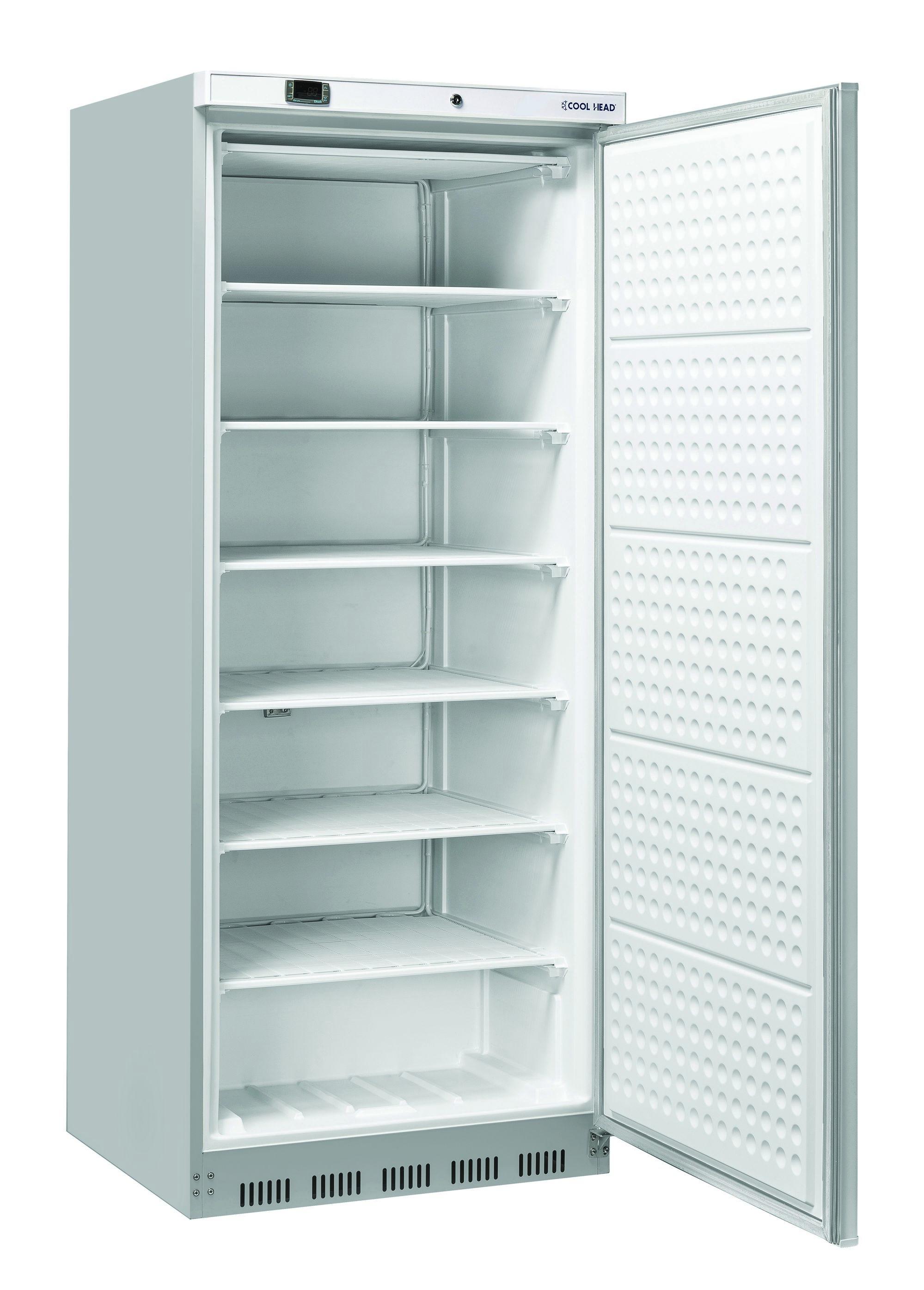 600 literes mélyhűtő, statikus hűtéssel, teli ajtóval, rozsdamentes, -18/-22°C