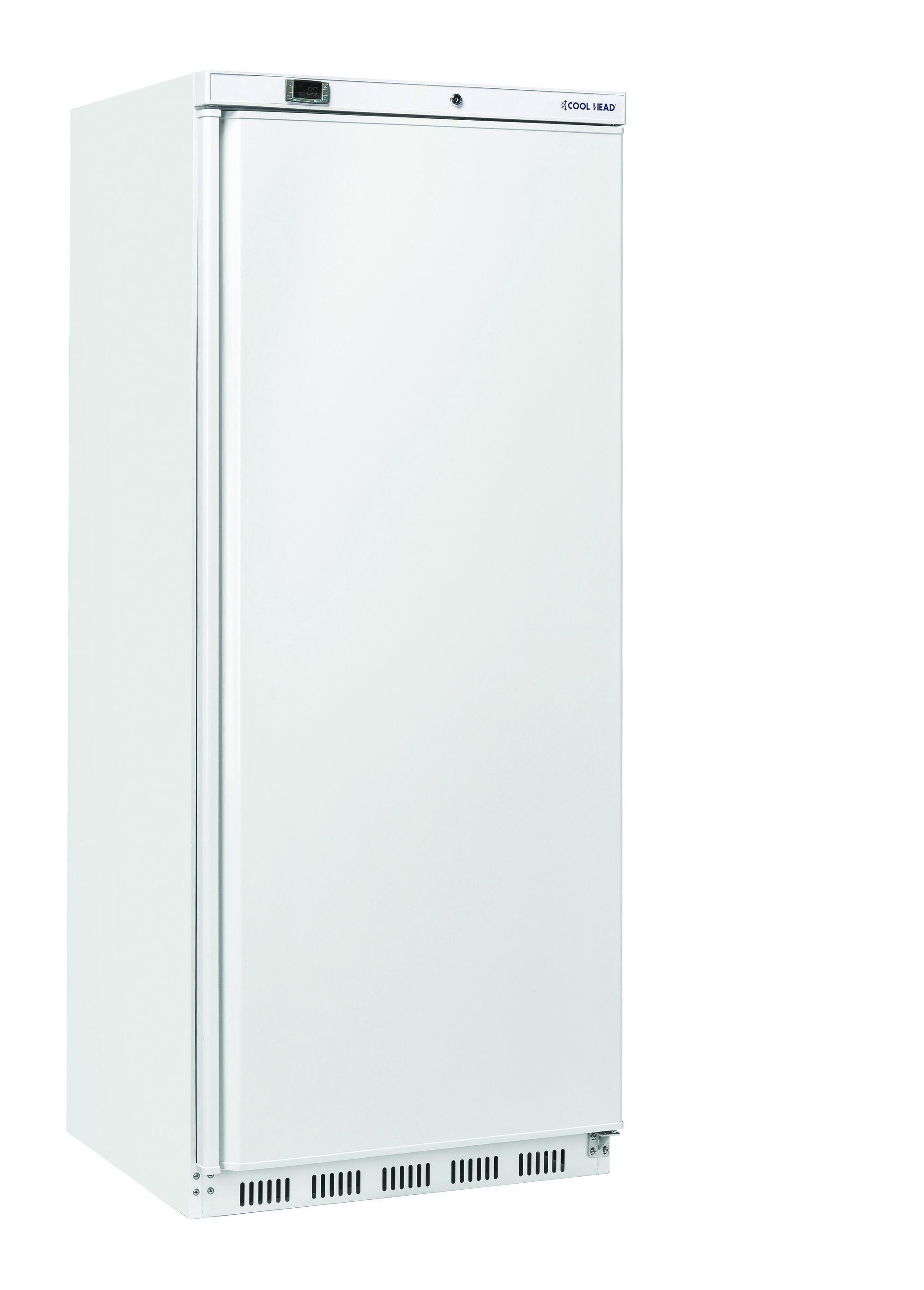 600 literes hűtő, ventilációs hűtéssel, teli ajtóval, fehér, +2/+10°C