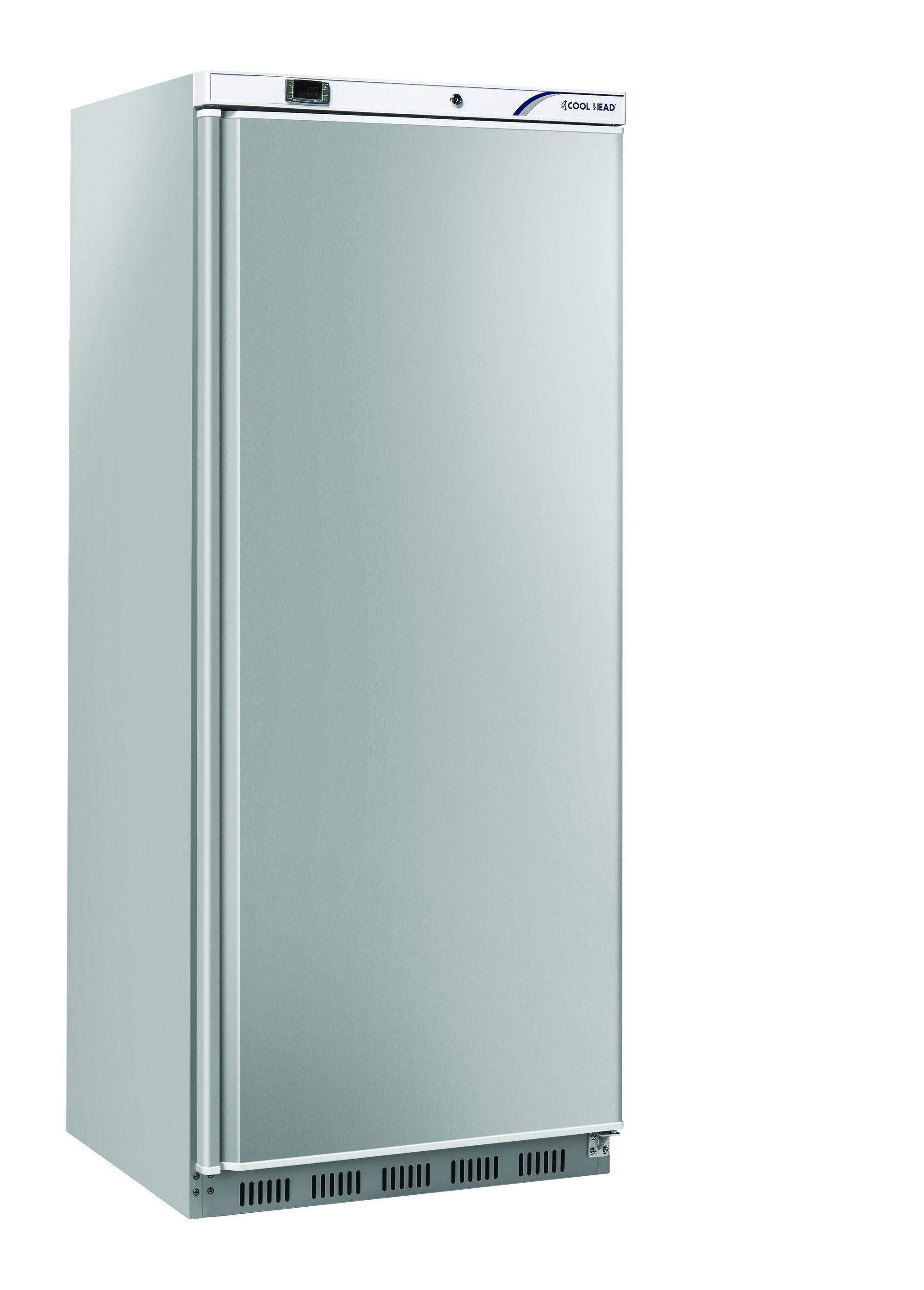 600 literes hűtő, ventilációs hűtéssel, teli ajtóval, rozsdamentes, +2/+10°C