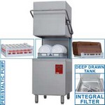 kalapos mosogatógép, 500x500 mm-es, 60/30 kosár/órás, duplafalú, 400 V-os