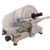 félautomata felvágottszeletelő gép, 250 mm-es késsel, 190x250 mm vágási felülettel
