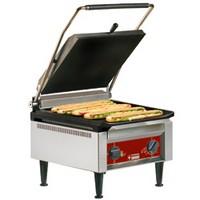 kontakt grill, alul sima felül bordázott bevonatos sütőfelülettel
