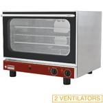 elektromos légkeveréses cukrászati sütő, 4 tálcás, manuális gőzbefecskendezéssel