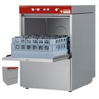 pohármosogató gép, 400*400 mm-es kosárral, 20 kosár/óra teljesítménnyel, beépített vízlágyítóval