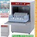 mosogatógép, 400x400 mm-es kosárral, beépített szennyvízpumpával és vízlágyítóval és beépített szűrővel