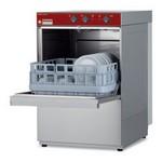 pohármosogató gép, 400x400 mm-es kosárral, 20 kosár/óra teljesítménnyel, beépített vízlágyítóval
