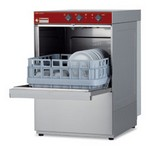 pohármosogató gép, 400x400 mm-es kosárral, 20 kosár/óra teljesítménnyel