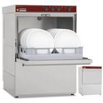 tányérmosogató gép, 500x500 mm-es kosárral, 20 kosár/óra teljesítménnyel, beépített szennyvízpumpával