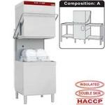 átmenő rendszerű mosogatógép, 600x500 mm-es kosárral, befutó és kifutó asztalokkal