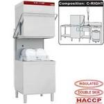 átmenő rendszerű mosogatógép, 600x500 mm-es kosárral, jobbról-balra befutó-kifutó asztalokkal, tartozékokkal
