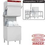átmenő rendszerű mosogatógép, 600x500 mm-es kosárral, balról-jobbra befutó-kifutó asztalokkal, tartozékokkal