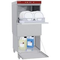 mosogatógép zárt állványon, 500x500 mm-es, beépített vízlágyítóval, beépített szennyvízpumpával