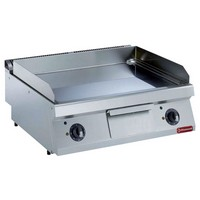 blokkba építhető asztali elektromos sütőlap, 730x540 mm-es sima krómozott sütőfelülettel