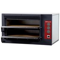 elektromos 2 aknás pizzasütő kemence, aknák mérete: 620*500*120 mm
