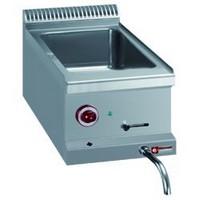 blokkba építhető asztali elektromos GN 1/1-es  vízfürdős melegentartó
