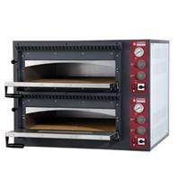 elektromos 2 aknás pizzasütő kemence, 2*4 db Ø330 mm-es pizza kapacitással
