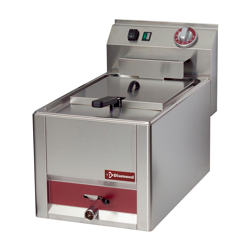 blokkba építhető asztali elektromos 8 literes fritőz, 230*255*110 mm-es sütőkosárral