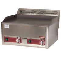 blokkba építhető asztali elektromos sütőlap, 650*480 mm-es sima öntöttvas lappal