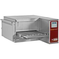 asztali gázos szalagos pizzasütő kemence, 25-30 db (Ø300 mm, 330 gr) pizza/óra kapacitással