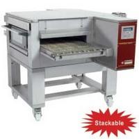 gázos szalagos pizzasütő kemence, 40-55 db (Ø300 mm, 330 gr) pizza/óra kapacitással