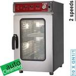 elektromos keskeny gőzpároló, 10x GN 1/1 tálcás, automatikus tisztítórendszerrel