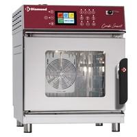 elektromos kis alapterületű gőzpároló, 4x GN 2/3 tálcás, automatikus tisztítórendszerrel