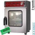 elektromos keskeny gőzpároló, 6x GN 2/3 tálcás, automatikus tisztítórendszerrel