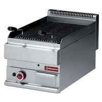 blokkba építhető asztali gázos lávaköves sütő, 350x500 mm-es öntöttvas ráccsal