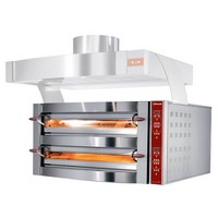 elektromos 2 aknás pizzasütő, 2x9 db 350 mm-es pizza kapacitással