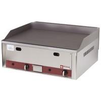 asztali gázos sütőlap, sima 620x500 mm-es öntöttvas lappal