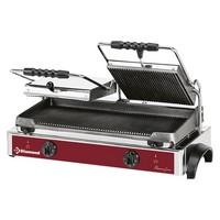kontakt grill, alul-felül bordázott 550*255 mm-es öntöttvas sütőfelülettel