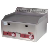 blokkba építhető asztali gázos sütőlap, 650*480 mm-es sima öntöttvas lappal