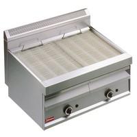 gázos asztali grillsütő, sütőrács mérete: 780x470 mm