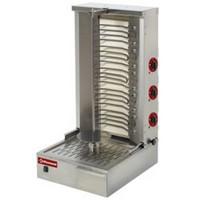 elektromos gyros sütő, 800 mm-es nyárssal, 40-55 kg kapacitással