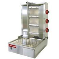 gázos gyros sütő, 600 mm-es nyárssal, 25-35 kg kapacitással