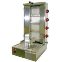 gázos gyros sütő, 800 mm-es nyárssal, 40-55 kg kapacitással