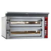 elektromos 2 aknás pizzasütő kemence, 2*9 db Ø350 mm-es pizza kapacitással