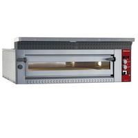 elektromos 1 aknás pizzasütő kemence, 9 db Ø350 mm-es pizza kapacitással