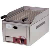 asztali gázos lávaköves sütő, 300x500 mm-es sütőráccsal